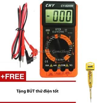 Bộ Đồng hồ đo vạn năng CHY CY-9205N GamoShop + Tặng 1 Bút thử điện tốt