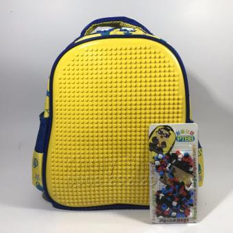 Balo học sinh ĐI HỌC ,ĐI CHƠI ráp hạt LEGO SÁNG TẠO dành cho TRẺ EM 25 X 30CM