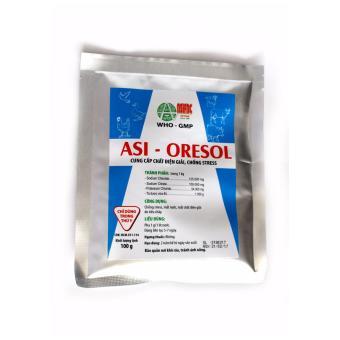 Bột pha nước uống chống stress, mất nước, mất chất điện giải do tiêu chảy Asi-ORESOL (100 gram)