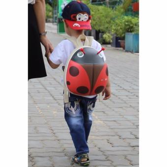 Ba Lô Cho Bé Tự Lập - Con Bọ Cute (Đỏ)