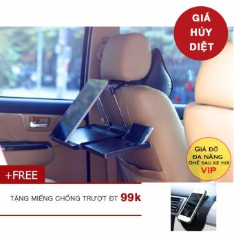 Giá đỡ laptop làm việc ghế sau xe hơi Cao Cấp + tặng miếng dán chống trượt