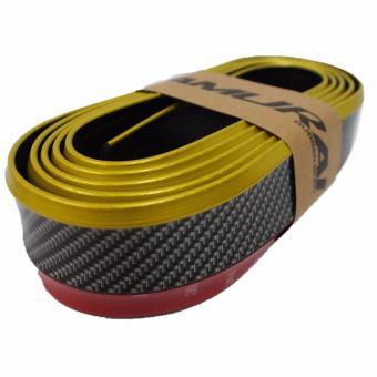 Lip cao su Samurai, nẹp chống xước bảo vệ gầm ô tô (Vàng)