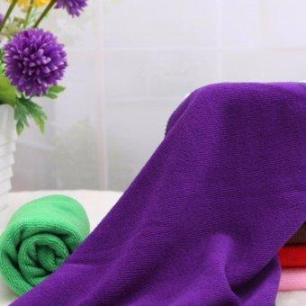 Bộ 5 khăn lau ô tô Micro Fiber siêu mịn GK-368 kích cỡ 30x60cm (Tím)
