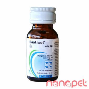 Thuốc diệt ve rận bọ chó mèo vệ sinh môi trường Bayticol 10ml