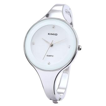 Đồng hồ nữ vòng tay dây inox Kimio P005 (Trắng)