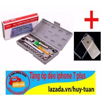 Bộ dụng cụ sửa chữa ô tô, xe máy 40 món + Free ốp dẻo điện thoại iphone 7 plus