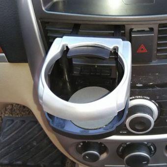 Kệ đựng chai nước, hộp gạt tàn thuốc trên ô tô N84 (Xanh)