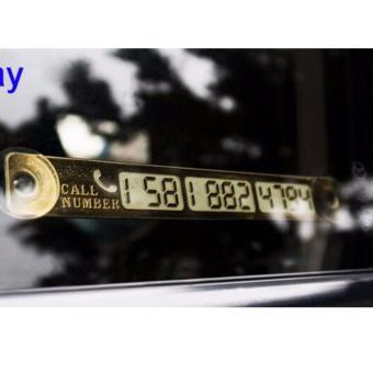 Bảng Số điện thoại chủ xe khi đỗ ô tô ngoài đường (số điện tử, có dạ quang)