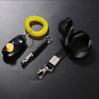 Ultrasonic Dog Training Whistle + Pet Training Clicker + Free Lanyard Set - intl
