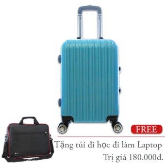 Vali kéo du lịch nhựa cứng khung nhôm loại nhỏ 7Kg TA274 (Xanh)