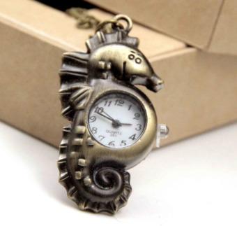 Dây chuyền mặt đồng hồ cá ngựa (Đồng).