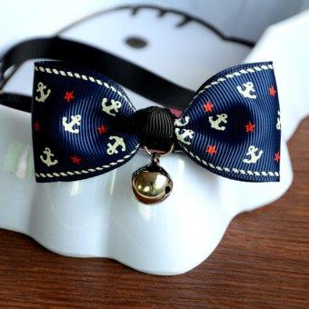 Adjustable-Dog-Cat-Tie Kitten-Necktie-Collar Pet Bow Tie Bells Accessories A3- - intl