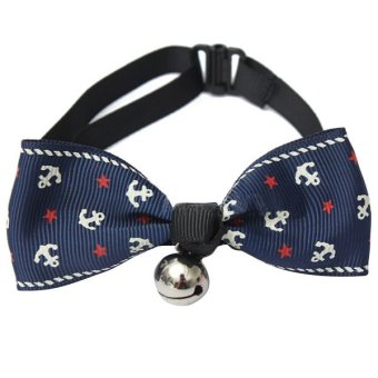 Adjustable-Dog-Cat-Tie Kitten-Necktie-Collar Pet Bow Tie Bells Accessories A3- - intl