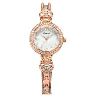 Đồng hồ nữ dây thép không gỉ Kimio KW556S-RG01 mặt trắng (Đồng)