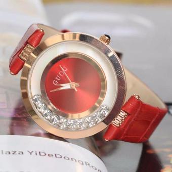 Đồng hồ dây da Guou Hàn Quốc( đá xoay)