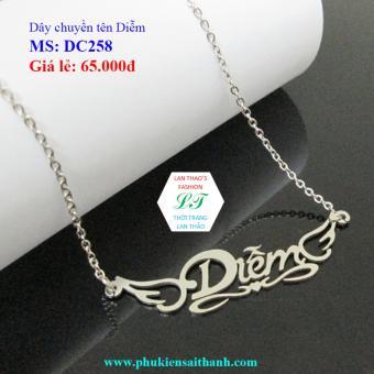 Dây chuyền Inox Nữ tên DIỄM siêu xinh DC258 (TRẮNG)