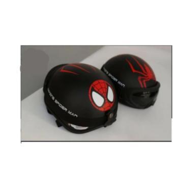Nón PGK 1/2 Đầu SPIDER MAN ( Đen Phối Đỏ) +Tặng kính Phượt