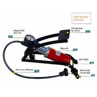 Bơm hơi đạp chân đơn ô tô xe máy CS560 (Thiết kế mới)