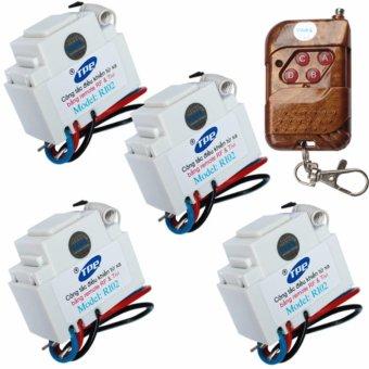 Bộ 4 công tắc điều khiển từ xa IR-RF TPE RI02+ 01 Remote 4 nút - lắp mặt panasonic