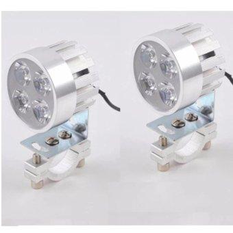 Combo 02 đèn pha trợ sáng siêu sáng cho xe máy, xe đạp điện