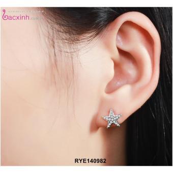 Bông tai nữ trang sức bạc Ý S925 Bạc Xinh - Sao biển RYE140982