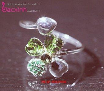 Nhẫn bạc nữ S925 Italia Bạc Xinh RR1247 (Ngọc Bích)