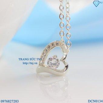 Dây chuyền bạc nữ trái tim DCN0134 - Trang Sức TNJ
