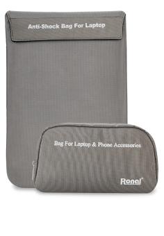 Bộ túi chống sốc cho laptop và túi phụ kiện Ronal Combo02