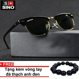 Kính mát nam Sino thời trang SN868+ Tặng kèm vòng tay thạch anh đen