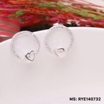 Bông tai nữ trang sức bạc S925 Italia Bạc Xinh RYE140732