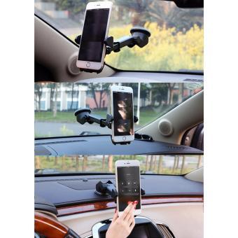 Giá đỡ kẹp điện thoại trên xe hơi, ô tô kéo dài, thu hẹp xoay 360 độ