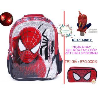 MUA 1 TẶNG 2 (Ba lô siêu nhẹ Spiderman có đèn giành cho trẻ em và học sinh (SIZE LỚN))