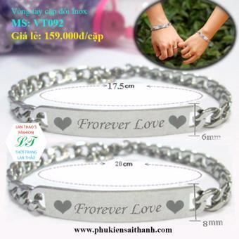 Vòng tay cặp đôi Inox Forever Love VT092 (Trắng)