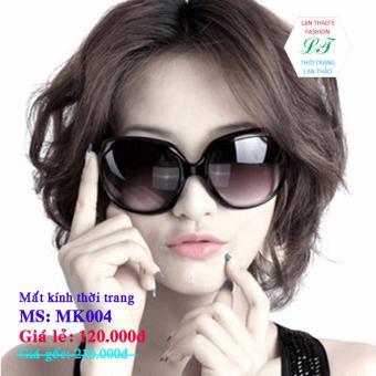 Mắt kính thời trang cực sang trọng MK004 (NÂU ĐEN)