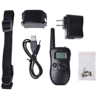 Waterproof LCD 100 Level Shock Vibra Pet Dog Remote Training Collar 300M- - intl