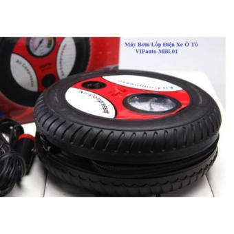 Bơm lốp ô tô, xe máy chuyên dụng 12v Air Compressor (Đen phối đỏ)