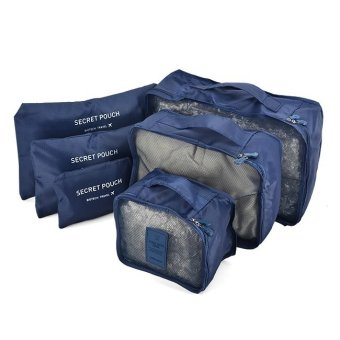 Bộ 6 Túi Đựng Đồ Du Lịch Chống Thấm Bag in Bag (Xanh navy)