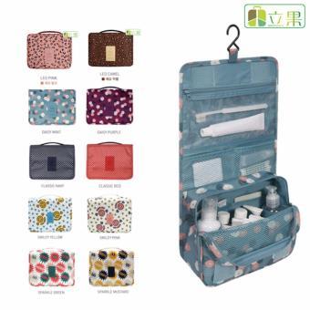 Túi đựng đồ du lịch cá nhân đa năng có móc treo phong cách Hàn Quốc (Hồng phấn, mặt cười)
