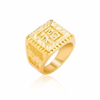 Nhẫn Nam Chữ Hán:chữ Phúc Mạ Vàng 18K UHA
