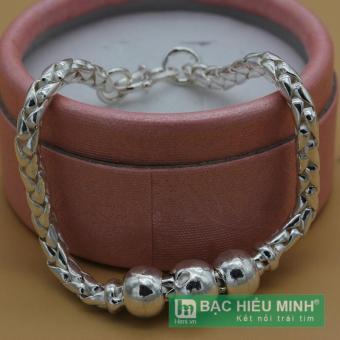 Lắc tay lắc chân trẻ em Bạc Hiểu Minh bằng bạc ta lte037