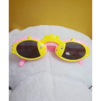 Kính mát trẻ em chống nắng hình con cá (Vàng hồng)