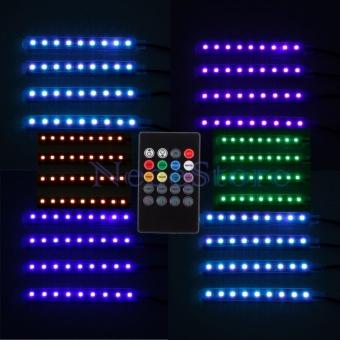 Đèn LED chiếu gầm nội thất xe hơi - Đổi màu và cảm biến theo tiếng nhạc