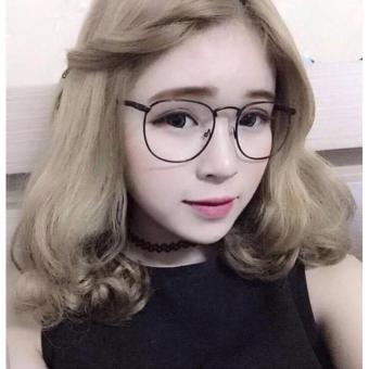Mắt kính ngố nữ thời trang (đen)