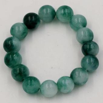 Vòng đeo tay đá cẩm thạch 12 ly xanh Ngọc VT1120