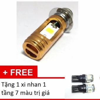 Đèn pha led Thanh Khang 2 chân M5 headlight gắn xe máy - Ánh sáng trắng + tặng xi nhan 1 tầng 7 màu