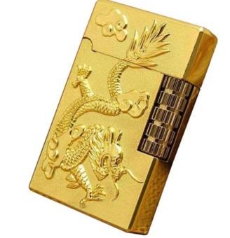 Bật lửa khắc rồng nổi CT004 (Vàng)
