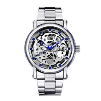 Đồng hồ nam cơ tự động dây thép không gỉ IDMUASAM 4612 (Mặt trắng)