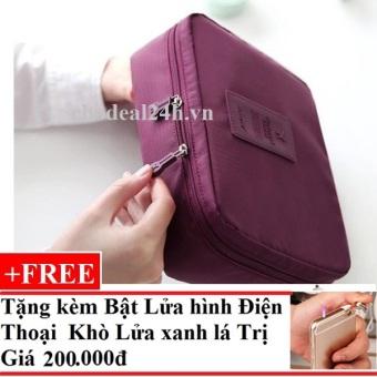 Túi đựng đồ cá nhân dành cho Nam chodeal24h.vn (Rượu vang) + Tặng Bật Lửa Hình Điện Thoại