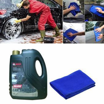 Nước rửa ô tô xe máy chuyên dụng Deluxe Super 2L kèm khăn lau chùi xe CS714