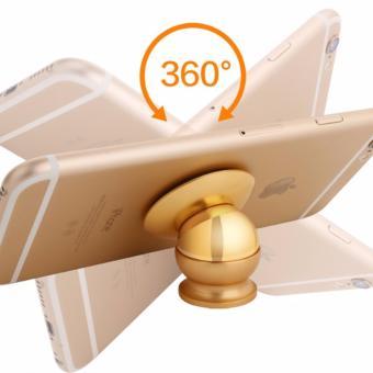 Trọn bộ hít nam châm giá đỡ điện thoại trên xe hơi, ô tô 360 độ loại xịn N98 (GOLD)